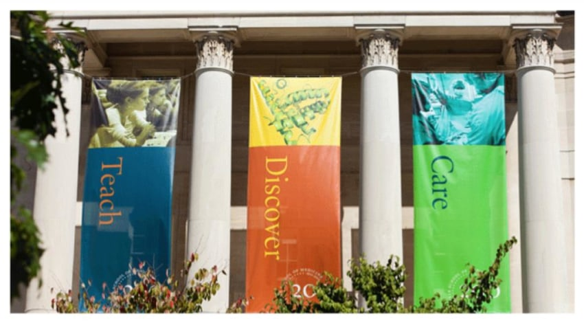 Care, Discover, Teach Banners