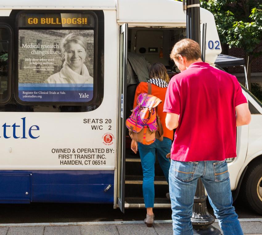Yale shuttle bus campaign