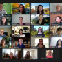 YCAS faculty and staff on a Zoom call
