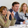 U.S. Rep. Rosa DeLauro and U.S. Sen. Chris Murphy spoke to cancer clinicians and researchers at a forum hosted by Dean Ann Kurth of the School of Nursing.