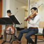 The Cedar Strings Quartet, composed of medical students Aishwarya Vijay, Michelle Ferreira, William Chen, and Charles Hsu