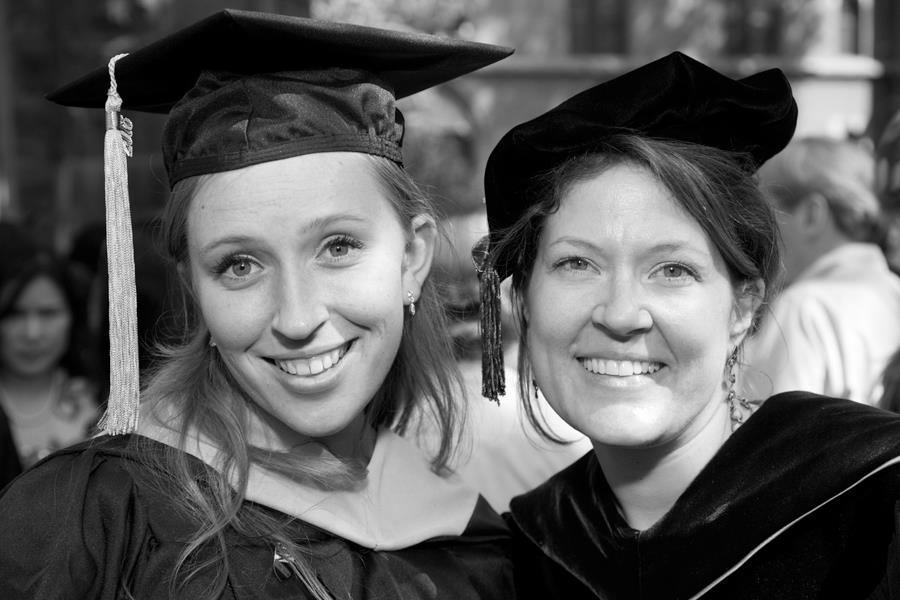 Graduate Daina Barauskas with faculty member Annette Molinaro.