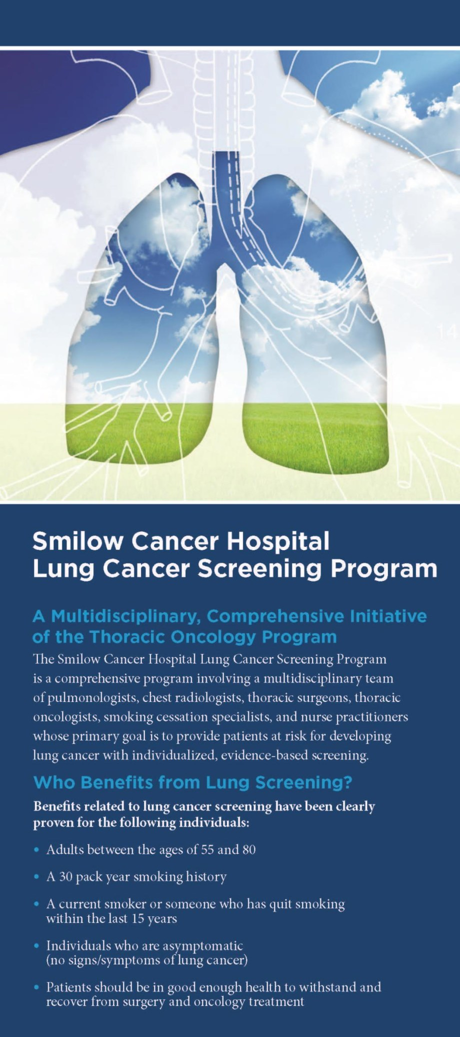 Lung Cancer Screening rack card