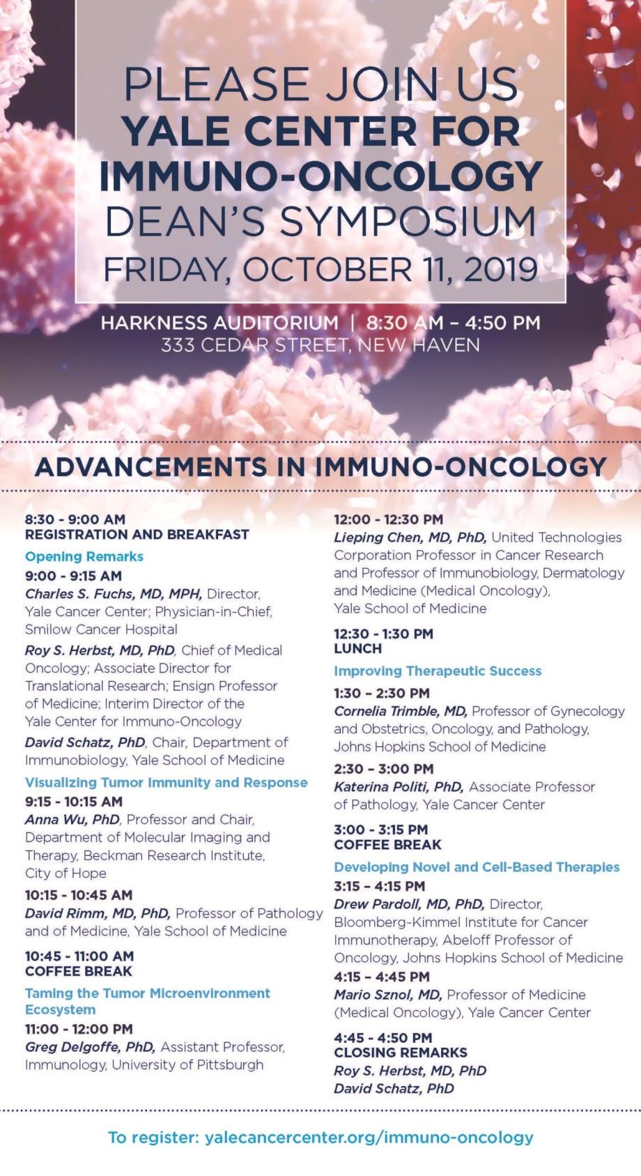 Immuno-Oncology Symposium invite cover