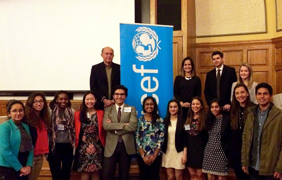 Yale Child Study Center faculty, event panelists and Yale UNICEF chapter students