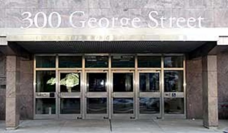 Front entrance of 300 George Street building