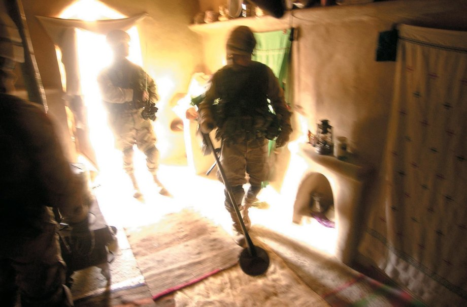 Special Forces troops, such as these searching a home in Afghanistan, release higher levels of neuropeptide Y, which helps them deal with stress.