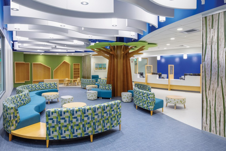 "The Yale Child Study Center has consolidated its clinical and community-based operations, formerly divided among several New Haven locations, into a single building at 350 George Street. With modern lighting and other innovative design features, the new facility has been praised as especially welcoming for young patients and their families. Dean Robert Alpern praises it as ""the home that the Child Study Center has always deserved."""