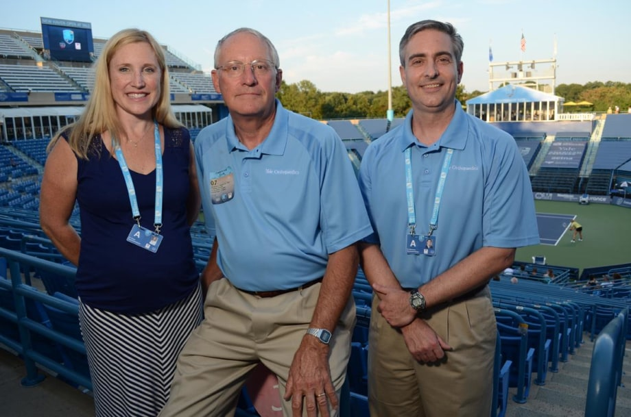 Karen Sutton, Peter Jokl, and Michael Medvecky are among the Yale physicians who provide medical services at the New Haven Open every summer.