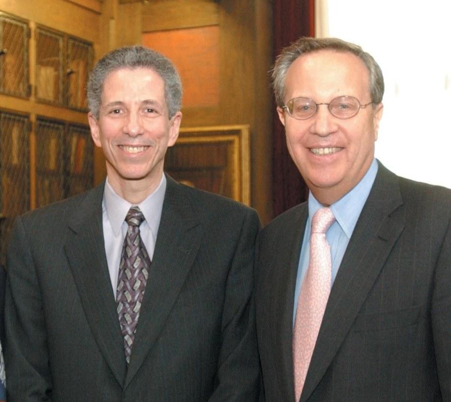 Robert Alpern and President Richard Levin