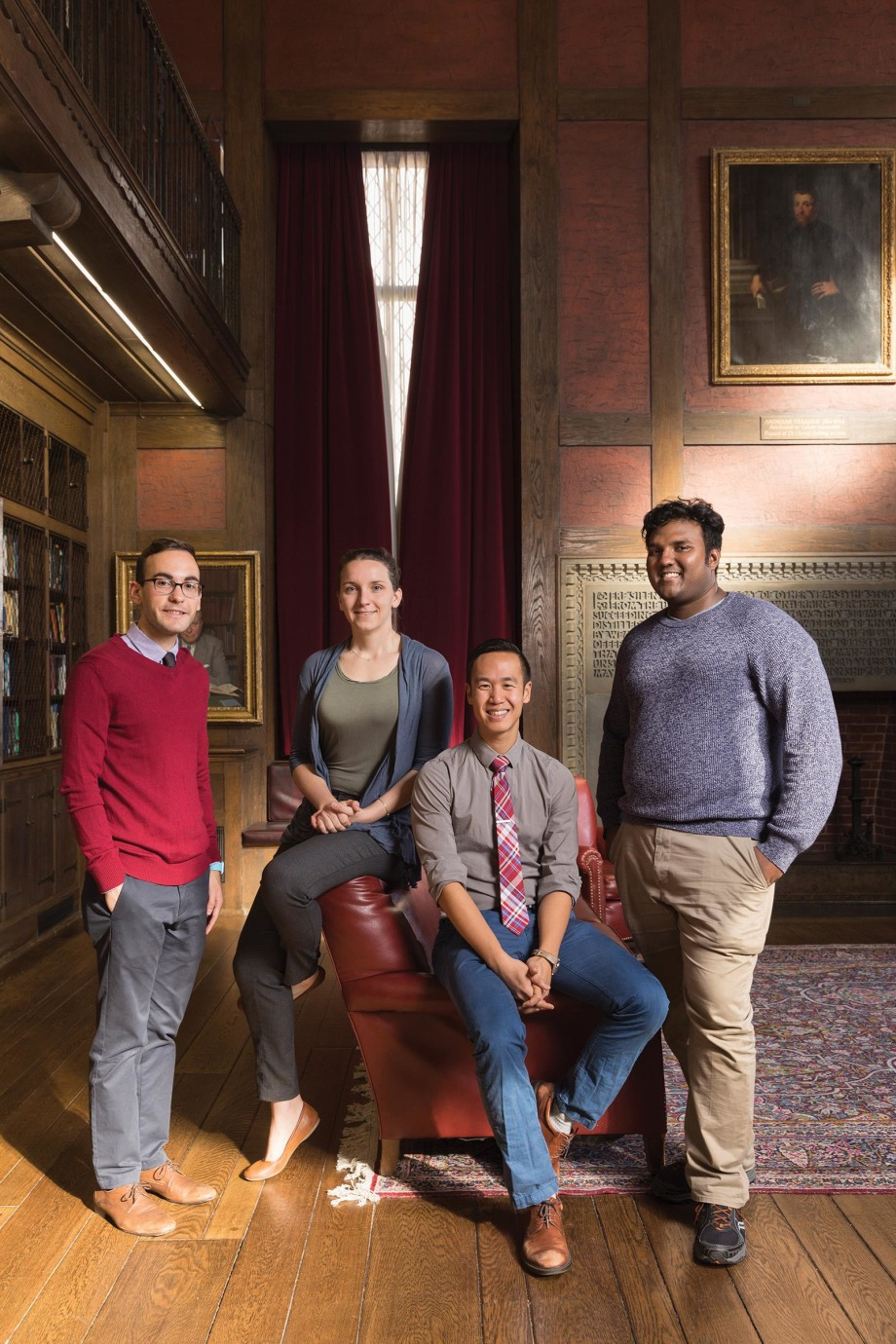 Andi Shahu, Kayleigh Herrick-Reynolds, Daniel Zheng, and Lorenzo Sewanan