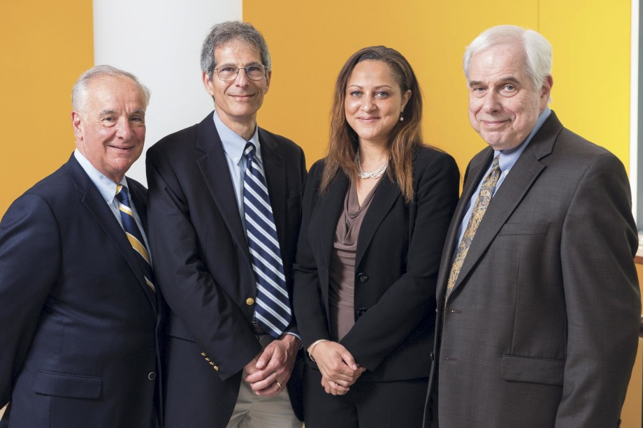 YCCI's leadership includes (from left) William Tamborlane, Kevan Herold, Tesheia Johnson, and Robert Sherwin, as well as Marcella Nuñez-Smith and Rajita Sinha (not pictured)