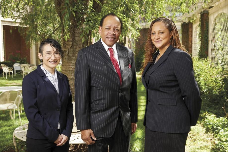 (l-r) Celina Fernández, Rev. Leroy Perry, and Tesheia Johnson