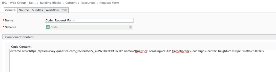 Embed Code for Qualtrics Form