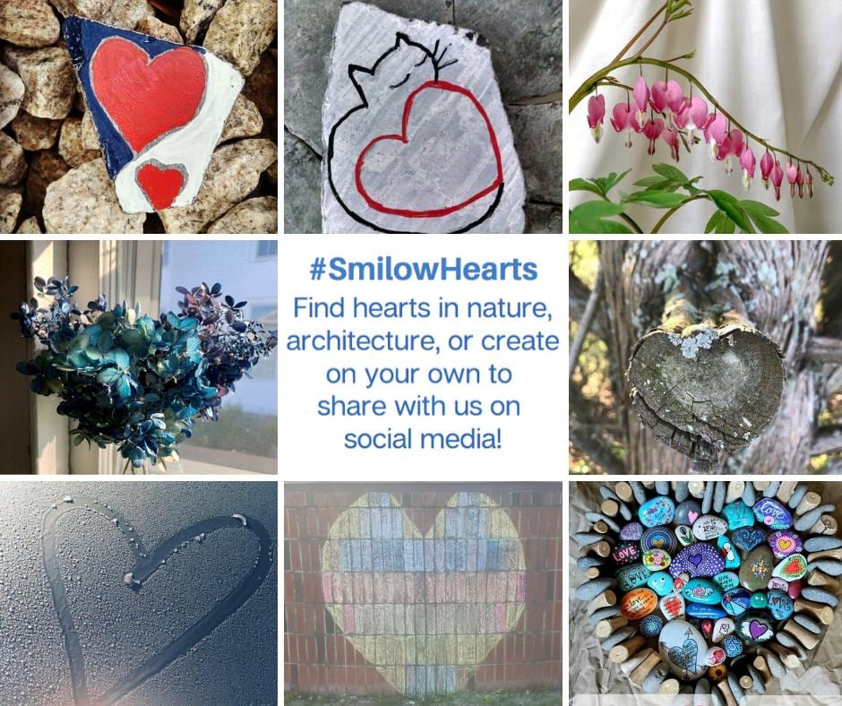 hearts in nature #smilowhearts
