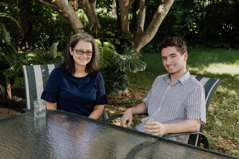 Daniel Pollack and his mother, Maria Diaz.