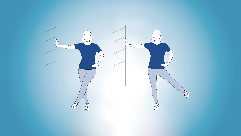 Straight-leg lateral swing illustration