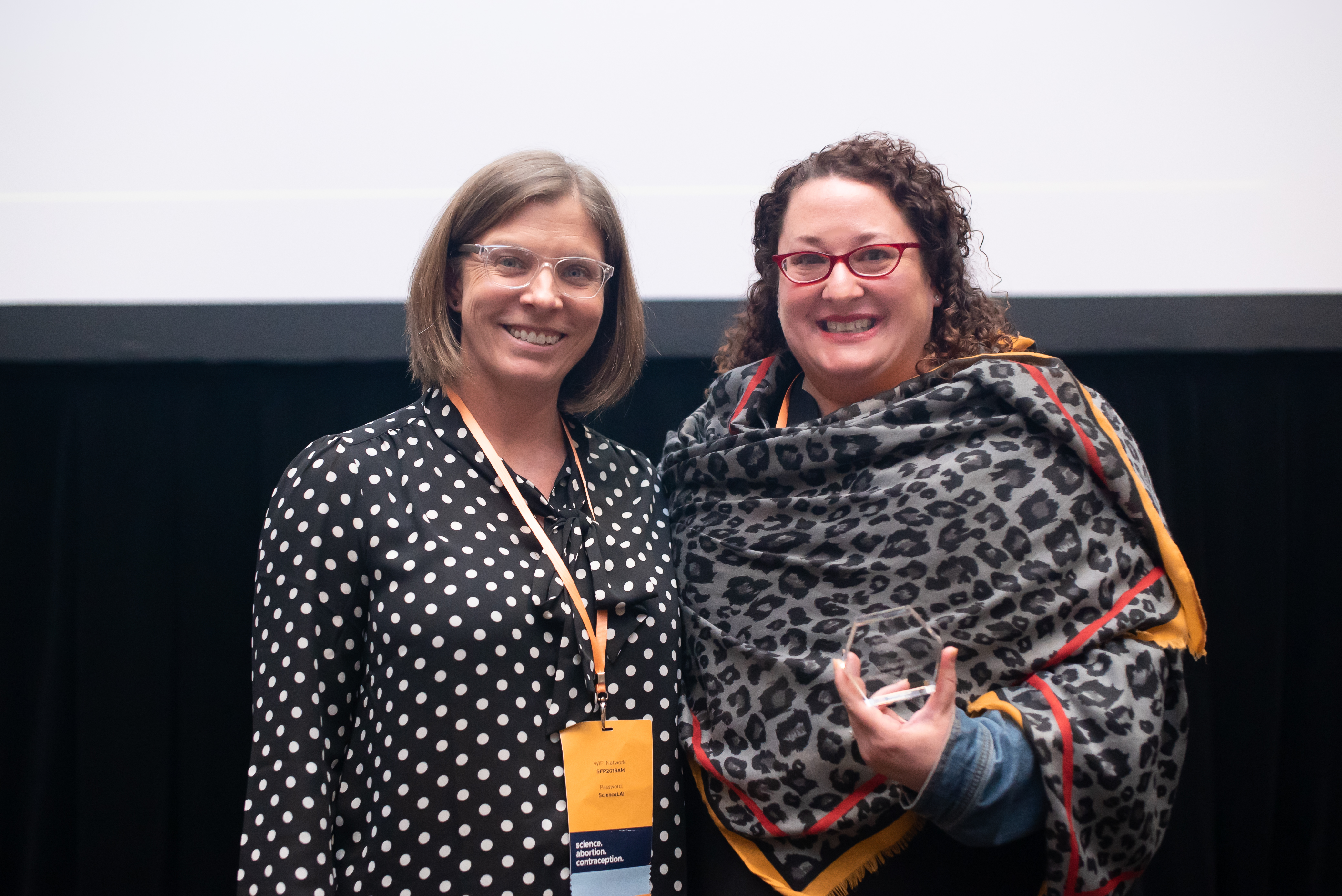 Aileen Gariepy MD, MPH, FACOG, MHS Receiving a 2019 Outstanding Research Award