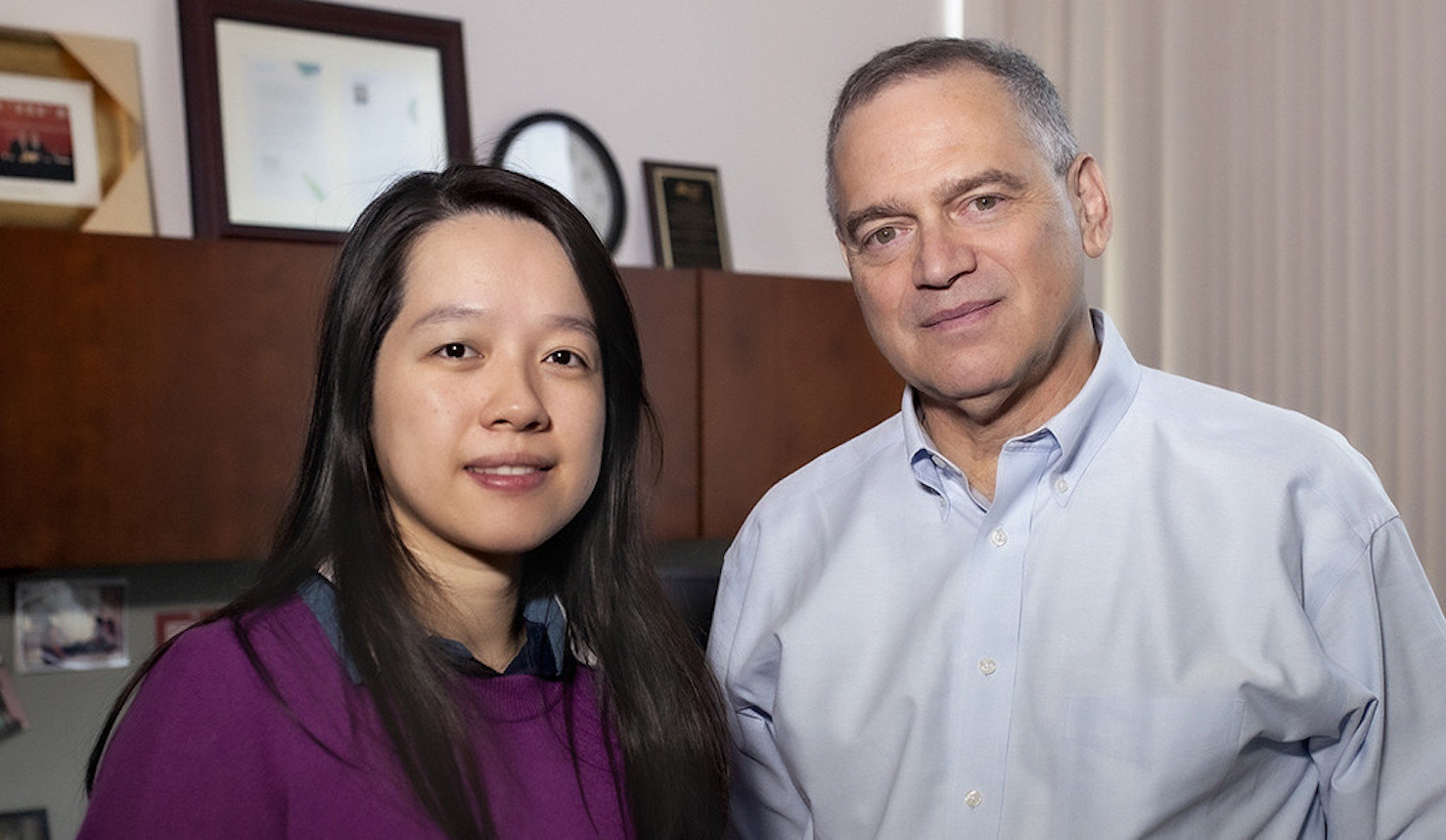 Chenxi Huang (left), first author of a new study in JAMA Network Open, and Harlan Krumholz, the study's senior author and director of the Yale Center for Outcomes Research and Evaluation